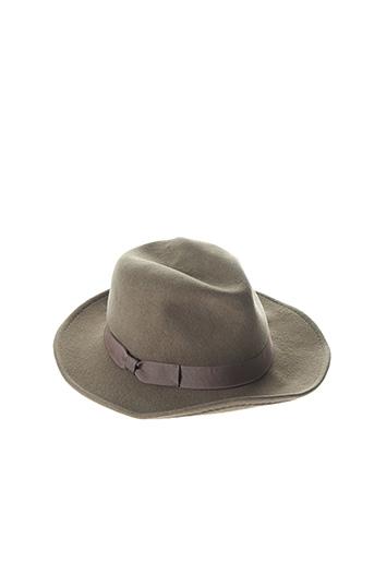 Chapeau vert CLOSED pour femme