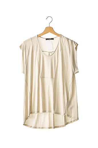 T-shirt manches courtes beige WEEKEND MAXMARA pour femme