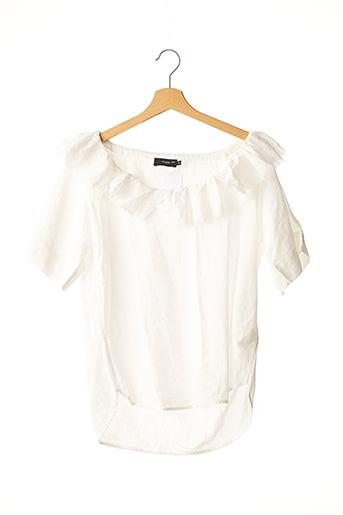 Blouse manches courtes blanc ET VOUS pour femme