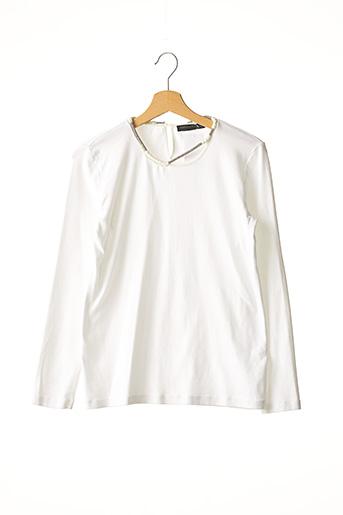 T-shirt manches longues blanc FABIANA FILIPPI pour femme