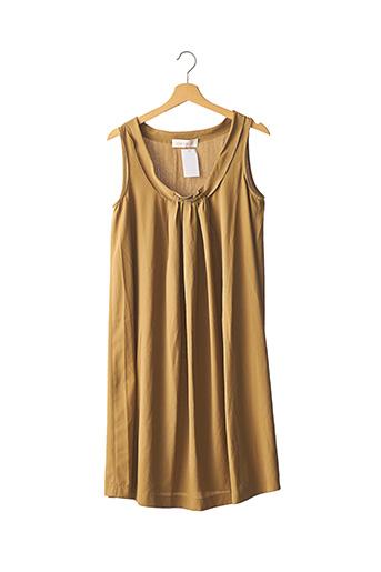 Robe mi-longue marron CACHAREL pour femme