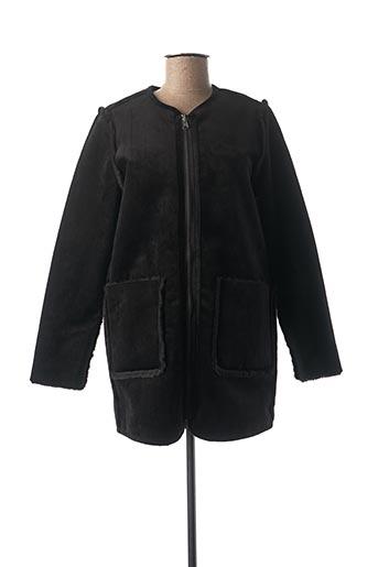 Manteau court noir SUNCOO pour femme
