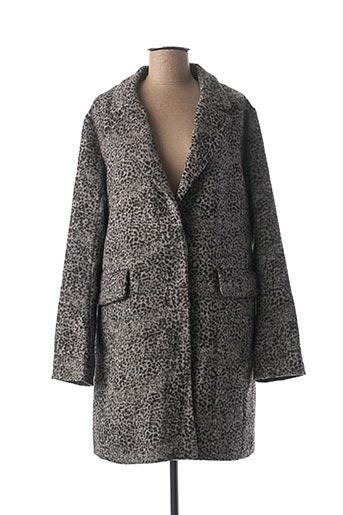 Manteau long gris CKS pour femme