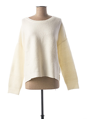 Pull col rond beige BEST MOUNTAIN pour femme