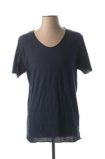 T-shirt manches courtes bleu SELECTED pour homme