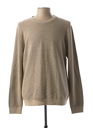 Pull col rond beige SELECTED pour homme