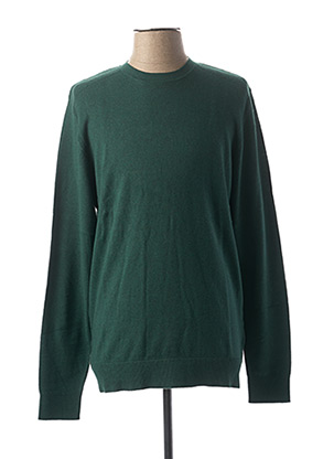 Pull col rond vert SELECTED pour homme