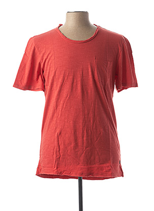 T-shirt manches courtes rouge CASUAL FRIDAY pour homme