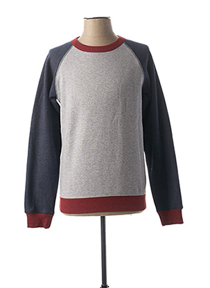 Sweat-shirt gris SELECTED pour homme