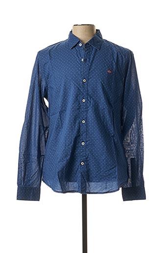 Chemise manches longues bleu NAPAPIJRI pour homme