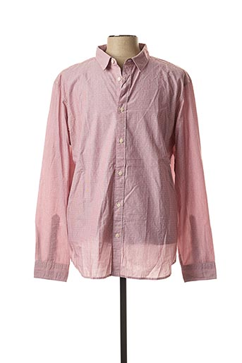 Chemise manches longues rose SELECTED pour homme