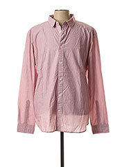 Chemise manches longues rose SELECTED pour homme seconde vue