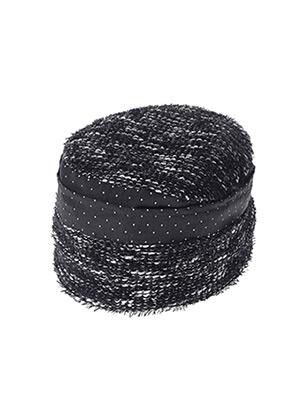 Chapeau noir MTM pour femme