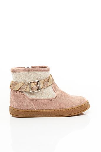 Bottines/Boots rose ATHLET'S BY POM D'API pour fille