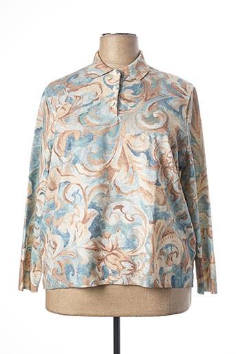 Pull col chemisier bleu RODAM pour femme