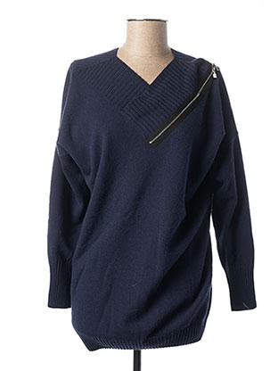 Pull tunique bleu D.EXTERIOR pour femme