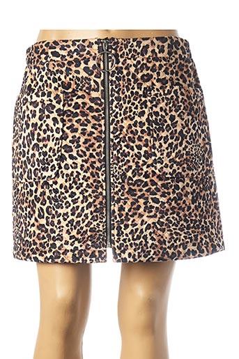 Jupe courte beige MOLLY BRACKEN pour femme