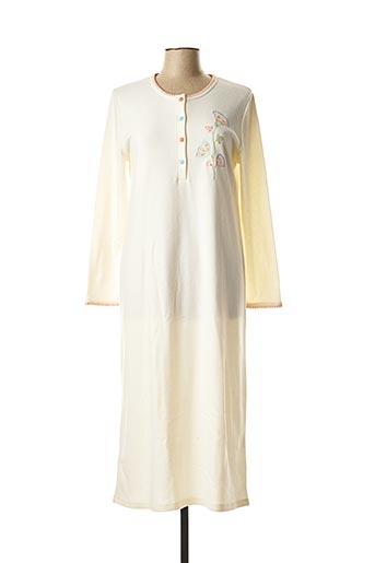Chemise de nuit beige REGENCE pour femme