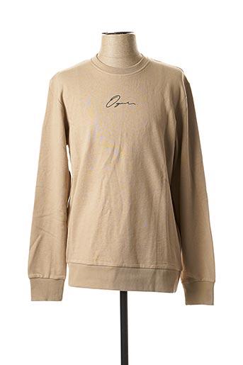 Sweat-shirt beige JACK & JONES pour homme