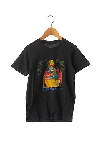 T-shirt manches courtes noir JACK & JONES pour enfant