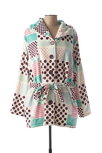 Robe de chambre vert ROSE POMME pour femme
