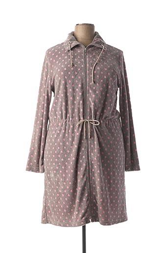 Robe de chambre gris RINGELLA pour femme