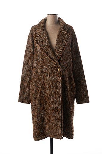 Manteau long marron BANDITAS FROM MARSEILLE pour femme