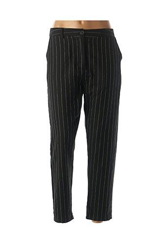 Pantalon 7/8 noir BANDITAS FROM MARSEILLE pour femme