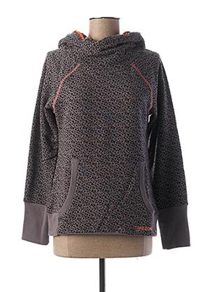 Sweat-shirt gris TIMEZONE pour femme