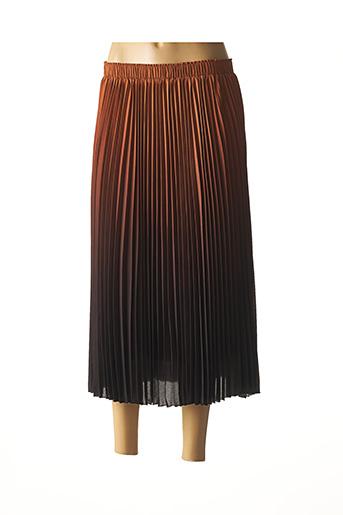Jupe longue marron IDANO pour femme