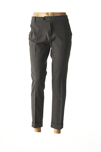 Pantalon casual gris DENIM STUDIO pour femme