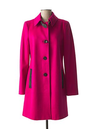 Manteau long rose ARMANI pour femme