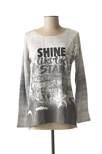 Pull col rond gris DOLCEZZA pour femme