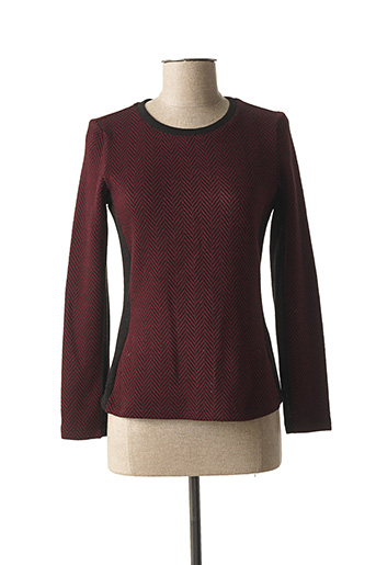 Pull col rond rouge JAVIER SIMORRA pour femme