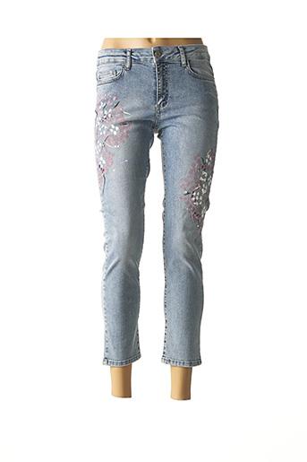 Jeans coupe slim bleu DOLCEZZA pour femme