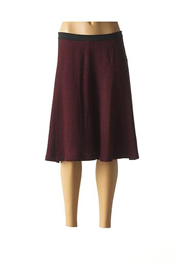 Jupe mi-longue rouge JAVIER SIMORRA pour femme