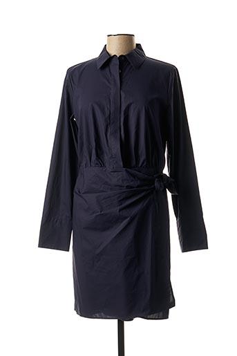 Robe mi-longue bleu SCOTCH & SODA pour femme