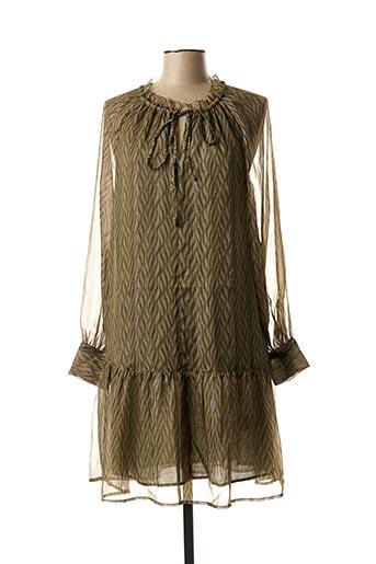 Robe mi-longue vert SCOTCH & SODA pour femme