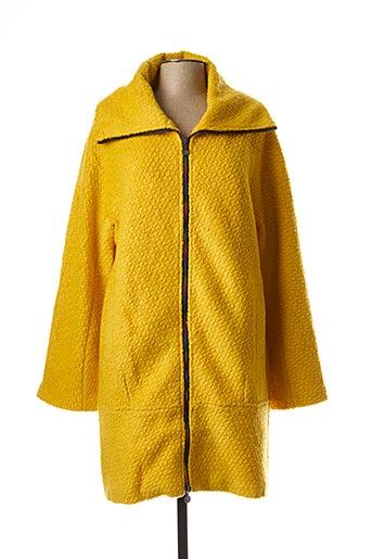 Manteau long jaune DESIGUAL pour femme