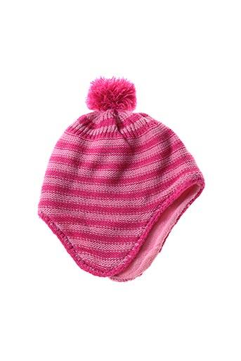 Bonnet rose GRAIN DE BLÉ pour fille