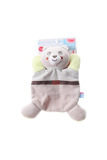Doudou gris SUCRE D'ORGE pour enfant