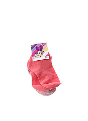 Chaussettes rose PIK OUIC pour fille