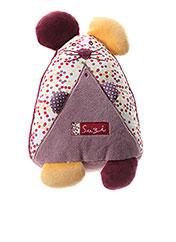 Doudou violet SAUTHON pour enfant seconde vue