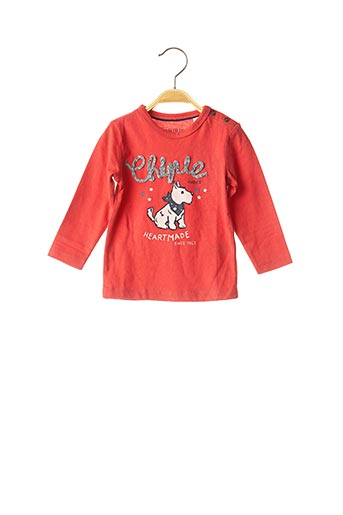 T-shirt manches longues rouge CHIPIE pour fille