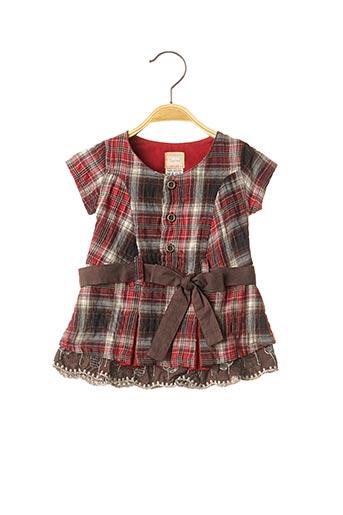 Robe mi-longue rouge TAPIOCA pour fille