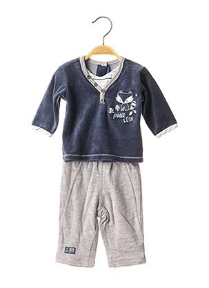 Pull/pantalon bleu LES BEBES SONT COMME CA ! pour garçon