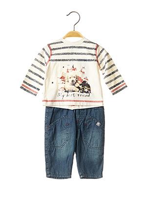 Top/pantalon blanc 3 POMMES pour garçon