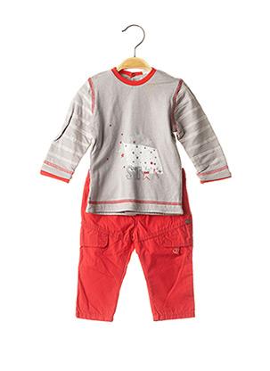 Top/pantalon rouge 3 POMMES pour garçon