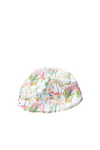 Chapeau blanc 3 POMMES pour fille