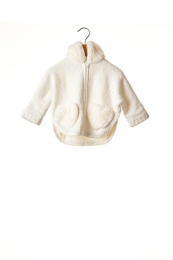 Manteau court blanc CATIMINI pour fille